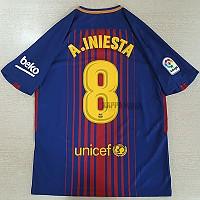 17-18 바르셀로나 홈 A.INIESTA 8번(이니에스타 8번)-자컷 네임셋
